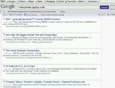 091101 promo eprize search google site modifier time recent