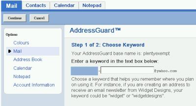 091101 yahoo address guard dea integration